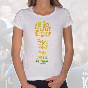 T-shirt Femme «Dédé faut l'empailler» : Trophée Coupe du Monde