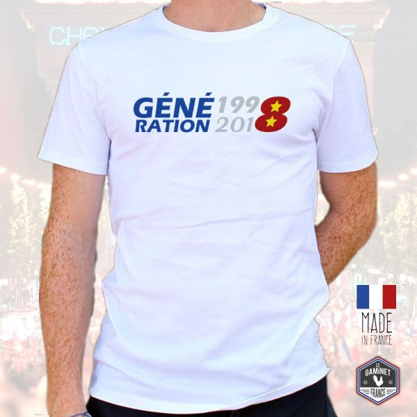 T-shirt Homme made in France «Génération 1998-2018»