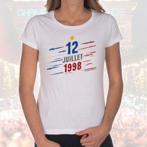 T-shirt Femme «12 juillet 1998»