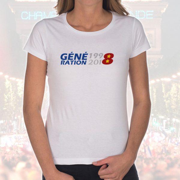 T-shirt Femme «Génération 1998-2018»