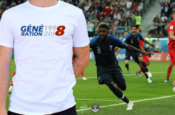 T-shirt made in France «Génération 1998-2018» en cas de victoire