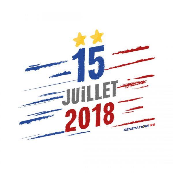 Visuel Génération 98 «15 juillet 2018»