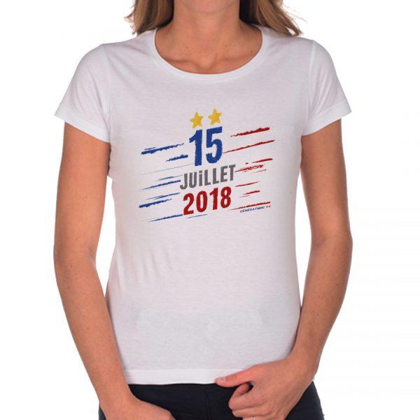T-shirt Femme «15 juillet 2018»