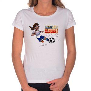 T-shirt Femme «Allez les bleues» : métisse