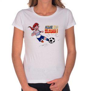T-shirt Femme «Allez les bleues» : rousse