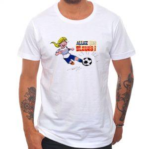 T-shirt «Allez les bleues» : blonde