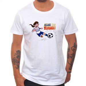 T-shirt «Allez les bleues» : brune