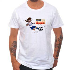 T-shirt «Allez les bleues» : métisse