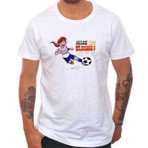 T-shirt «Allez les bleues» : rousse